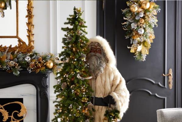 Zlatno srebrno božićno dekoriranje