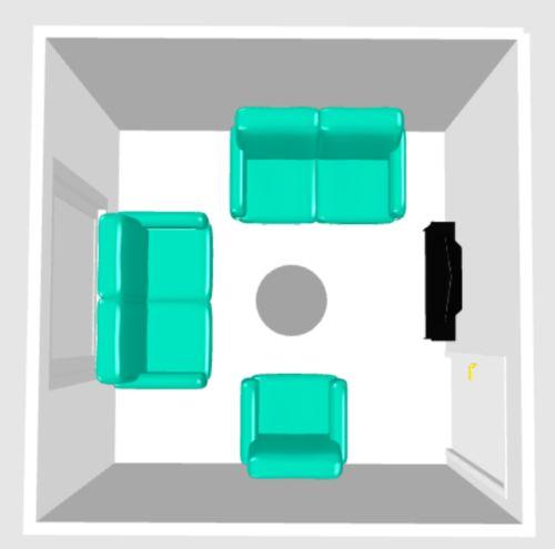Kako smjestiti sofe ili garnituru u mali dnevni boravak