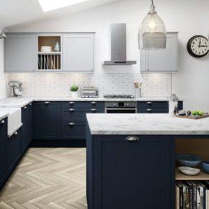 Moderne plave kuhinje