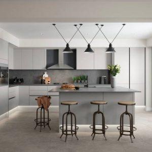 Moderne sive kuhinje
