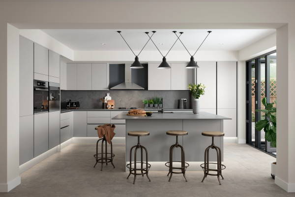 Odlične moderne sive kuhinje